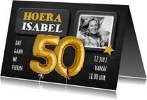 Uitnodiging 50 jaar Ballon goud