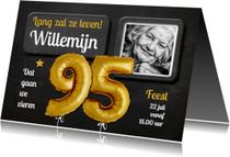 Uitnodiging Ballonnen goud 95