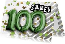 Uitnodiging ballon  samen 100 - SG