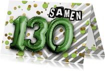 Uitnodiging ballon samen 130