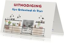 Uitnodiging etentje Chez Restaurant II