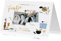 Jubileumkaarten - Uitnodiging etentje jubileum 50 jaar getrouwd met foto's
