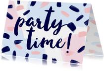Uitnodigingen - Uitnodiging Feest Jaren 80 Stijl Meisje