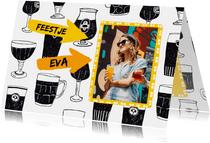 Uitnodiging feestje met biertjes