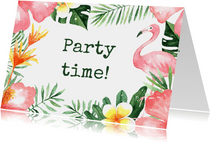 Uitnodiging feestje Tropical - WW