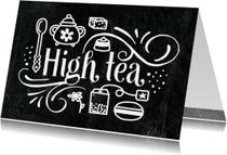 Uitnodiging High Tea Krijtbord