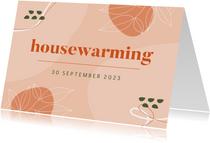 Uitnodiging housewarming abstract
