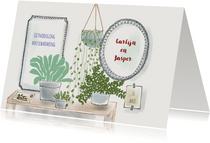 Uitnodiging housewarming Urban Jungle