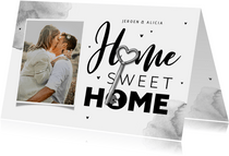 Uitnodiging housewarming verhuiskaart sleutel foto