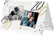 Uitnodiging jubileum 50 jaar getrouwd foto's en jaartallen