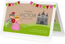 Uitnodiging kinderfeestje ridders en prinsessen