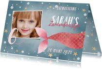 Uitnodiging kinderfeestje voor zwemfeestje met zeemeermin