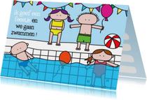 Uitnodiging Kinderfeestje Zwem