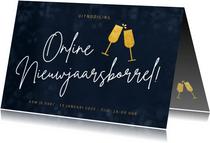 Uitnodiging online nieuwjaarsborrel voor personeel