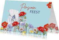 Uitnodiging pensioen veldbloemen