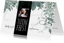 Uitnodiging tuinfeest, samen 70, botanisch