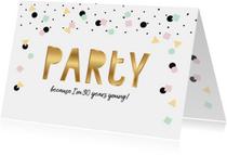 Uitnodiging verjaardag hip feestelijk eenvoudig