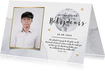 Uitnodiging voor de belijdenis met maan en foto