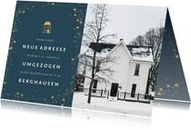 Umzugskarte neues Jahr, neue Adresse