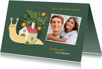 Umzugskarte Schneckenhaus mit Foto