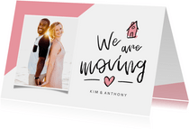Umzugskarte 'We are moving' mit Foto