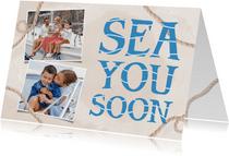 Urlaubskarte maritim Fotocollage
