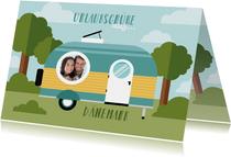 Urlaubskarte Wohnwagen mit eigenem Foto