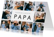 Vaderdag fotocollage kaart met 10 eigen foto's en tekst