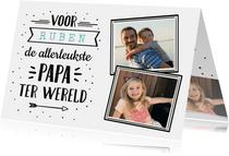 Vaderdag hippe handlettering kaart met naam en eigen foto's