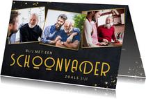 Vaderdag kaarten - Vaderdag kaart fotocollage blij met een schoonvader als jij