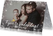 Vaderdagkaart fijne 1e vaderdag met grote foto en namen