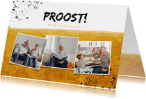 Vaderdagkaart fotocollage proost op de leukste opa
