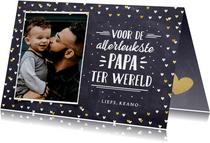 Vaderdagkaart handlettering met foto voor allerleukste vader