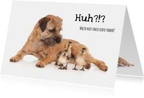 Vaderdagkaart - Hond met kuikens - Stiefvader