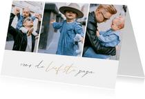 Vaderdagkaart met fotocollage en gouden accent
