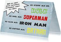 Vaderdagkaart Papa is alle superhelden bij elkaar
