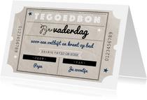 Vaderdagkaart vintage tegoedbon en typografie sterren