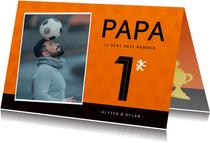 Vaderdagkaart voetbalshirt Nederlands elftal met foto