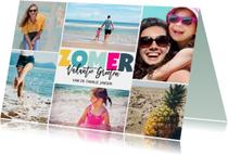 Vakantie kaart zomer letters