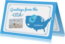 Vakantie Landkaart USA
