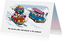 Vakantie wintersport met auto