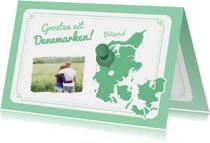 Vakantiekaart Denemarken Kaart