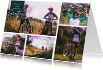 Vakantiekaart fietsvakantie eigen land