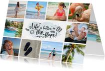 Vakantiekaart hippe fotocollage met 10 foto's