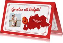 Vakantiekaart Landkaart België