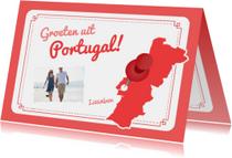 Vakantiekaart Portugal Landkaart