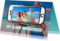 Vakantiekaart selfie - SG