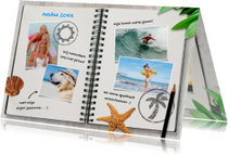 Vakantiekaart travel journal