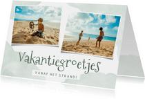 Vakantiekaart vakantiegroetjes met waterverf en foto's