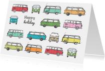 Vakantiekaart VW busjes